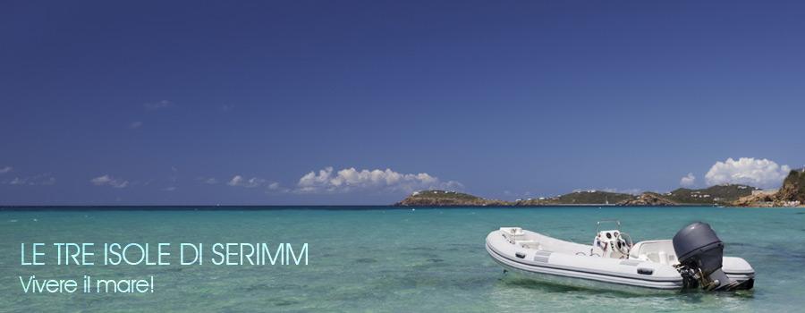Le tre isole di Serimm Noleggio Gommoni